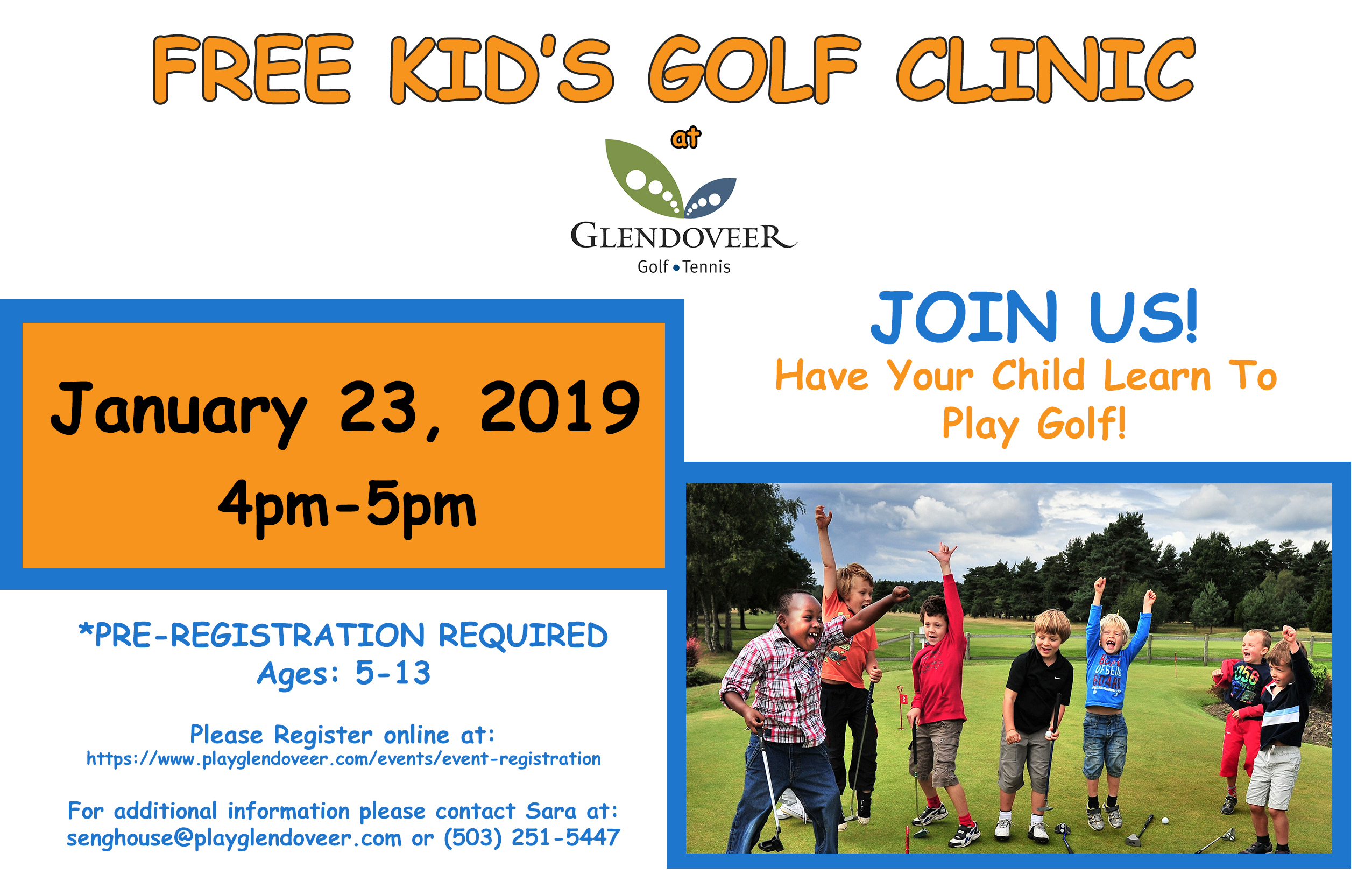 Free Kid's Golf Clinic